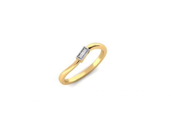 18K Yellow Gold IF-HI Diamond Ring 0.018 ct-SDR1991