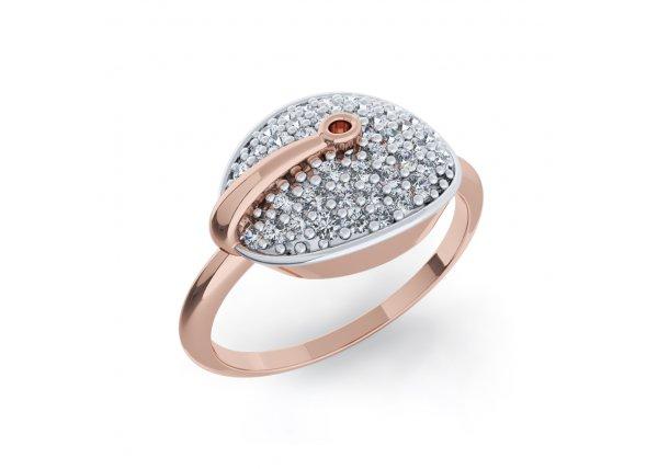 18K Rose Gold IF-HI Diamond Ring 0.249 ct-SDR1992