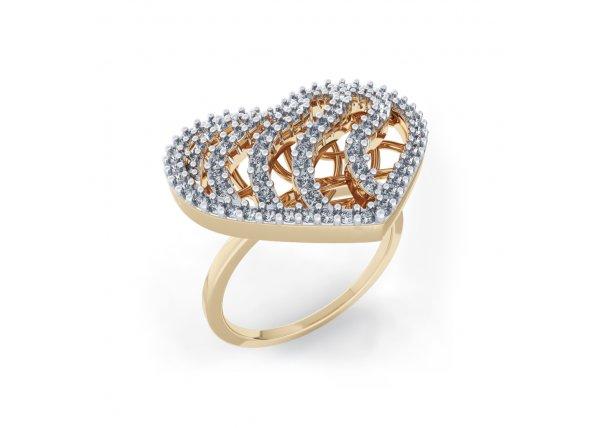 18K Yellow Gold IF-HI Diamond Ring 0.776 ct-SDR1993