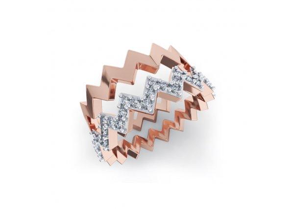 18K Rose Gold IF-HI Diamond Ring 0.231 ct-SDR1995