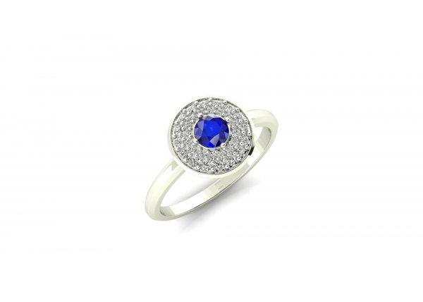 18K White Gold IF-HI Diamond Ring 0.224 ct-SDR1997
