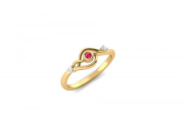 18K Yellow Gold IF-HI Diamond Ring 0.022 ct-SDR2045