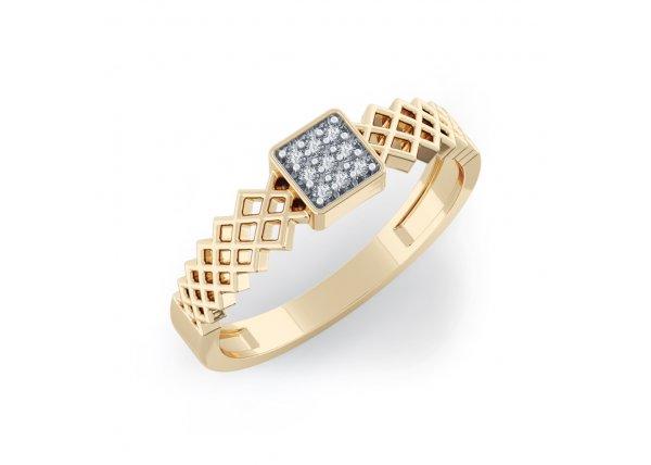 18K Yellow Gold IF-HI Diamond Ring 0.063 ct-SDR2046