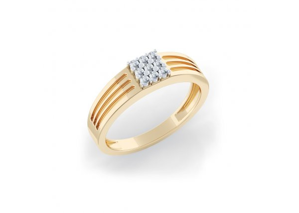 18K Yellow Gold IF-HI Diamond Ring 0.135 ct-SDR2054