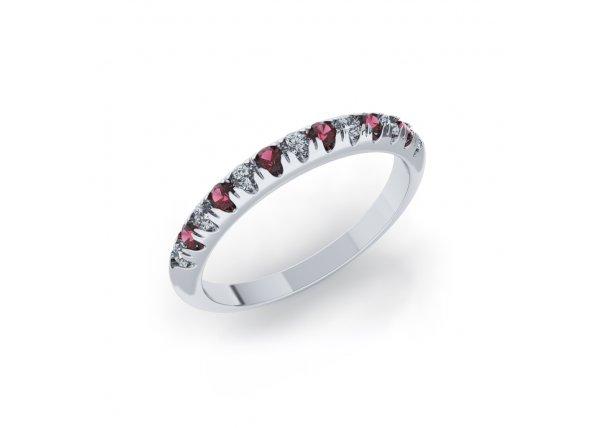 18K White Gold IF-HI Diamond Ring 0.245 ct-SDR2059
