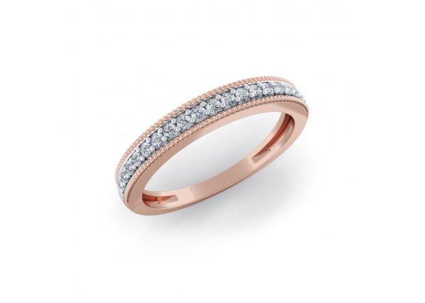 18K Rose Gold IF-HI Diamond Ring 0.209 ct-SDR2093