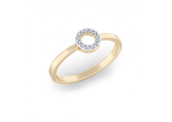 18K Yellow Gold IF-HI Diamond Ring 0.052 ct-SDR2100