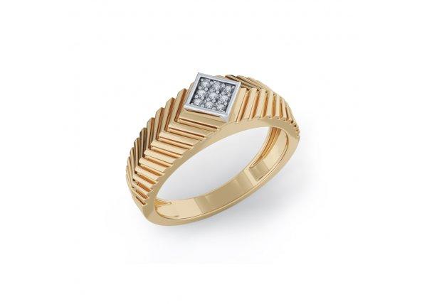 18K Yellow Gold IF-HI Diamond Ring 0.063 ct-SDR2107