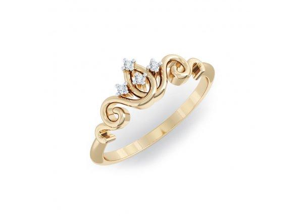 18K Yellow Gold IF-HI Diamond Ring 0.02 ct-SDR2113