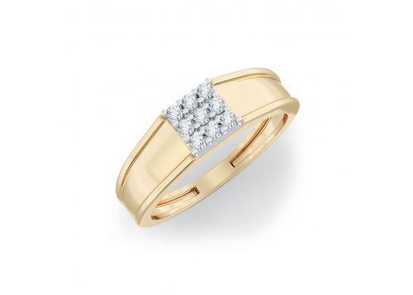 18K Yellow Gold IF-HI Diamond Ring 0.18 ct-SDR2115