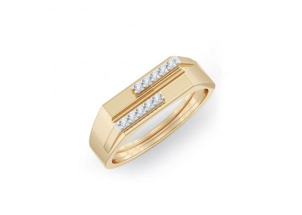 18K Yellow Gold IF-HI Diamond Ring 0.09 ct-SDR2127
