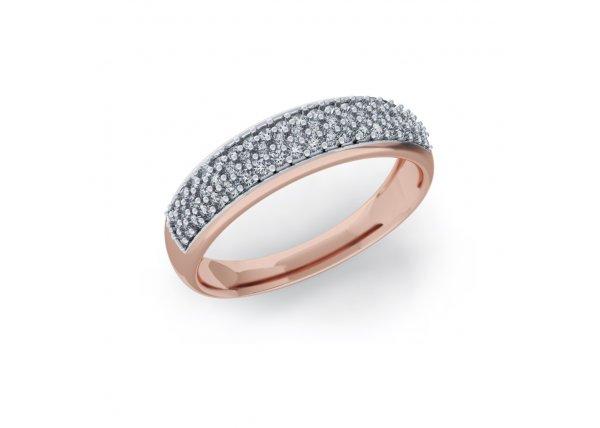 18K Rose Gold IF-HI Diamond Ring 0.401 ct-SDR2133
