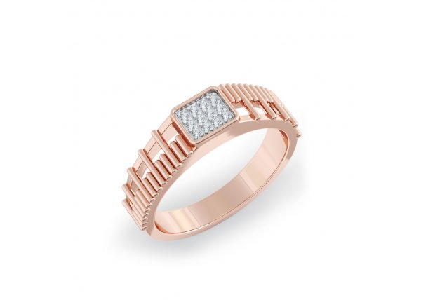 18K Rose Gold IF-HI Diamond Ring 0.072 ct-SDR2136