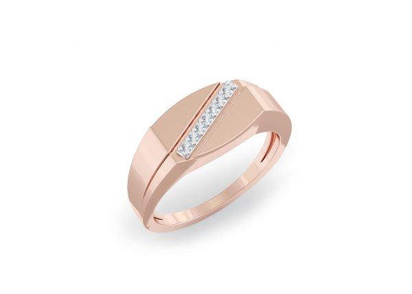 18K Rose Gold IF-HI Diamond Ring 0.063 ct-SDR2137