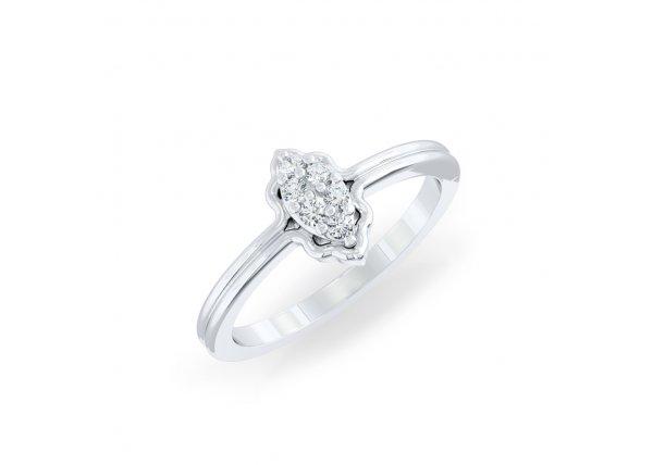 18K White Gold IF-HI Diamond Ring 0.078 ct-SDR2144