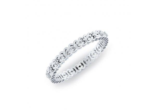 18K White Gold IF-HI Diamond Ring 0.045 ct-SDR2148