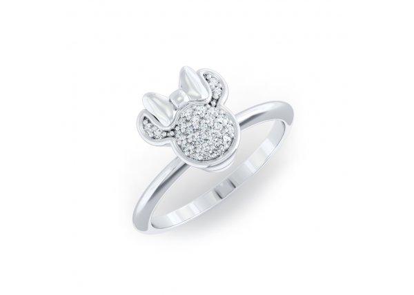 18K White Gold IF-HI Diamond Ring 0.101 ct-SDR2154