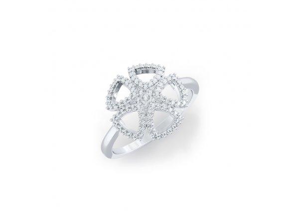 18K White Gold IF-HI Diamond Ring 0.257 ct-SDR2156