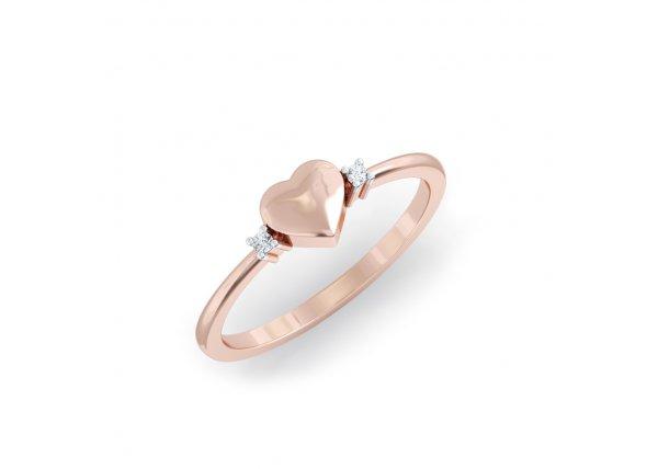 18K Rose Gold IF-HI Diamond Ring 0.014 ct-SDR2157