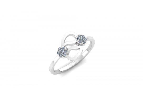 18K White Gold IF-HI Diamond Ring 0.146 ct-SDR2911
