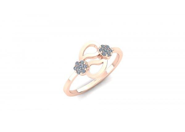 18K Rose Gold IF-HI Diamond Ring 0.146 ct-SDR2912