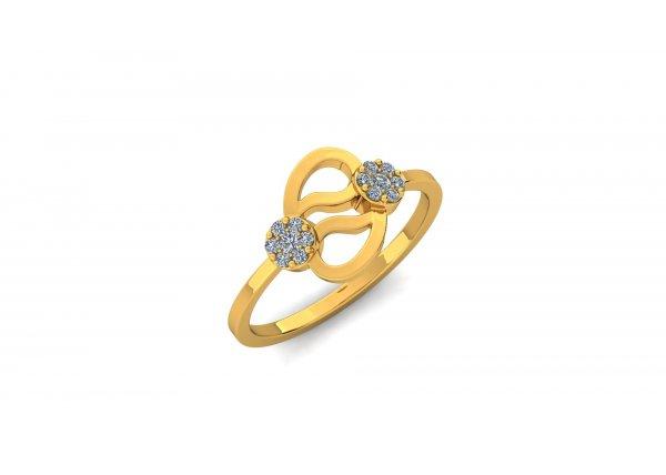 18K Yellow Gold IF-HI Diamond Ring 0.146 ct-SDR2913