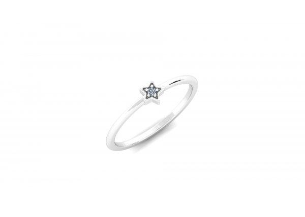 18K White Gold IF-HI Diamond Ring 0.015 ct- SDR2936