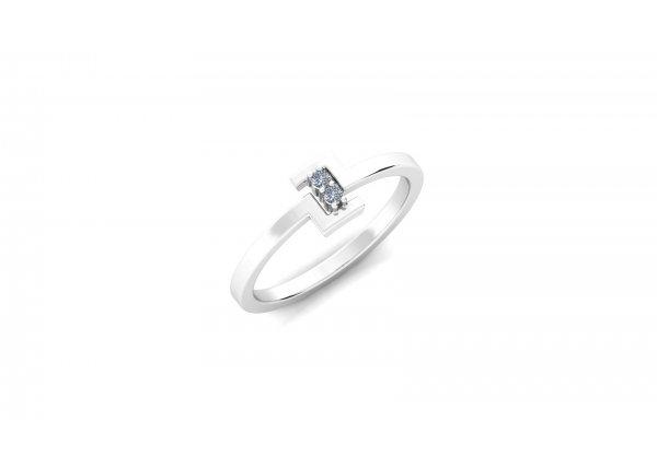 18K White Gold IF-HI Diamond Ring 0.036 ct-SDR2976
