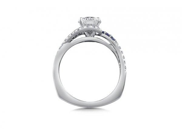 Mckenzie - Diamond & Blue Sapphire Engagement Ring