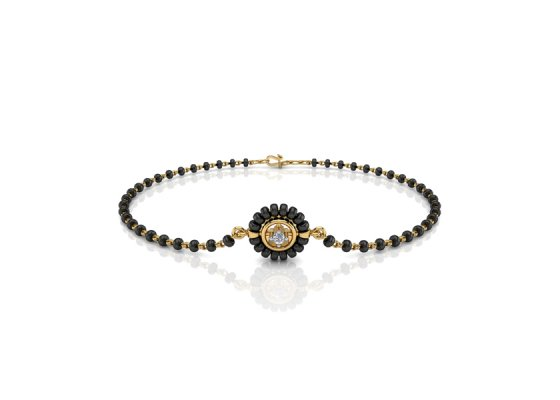 18K Yellow Gold IF-FG Diamond Bracelet 0.035 ct-SDBT1167