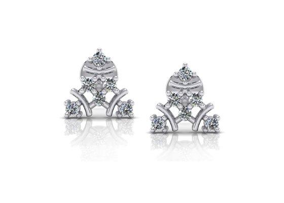 18K White Gold IF-FG Diamond Earring 0.18 ct-SDER1390