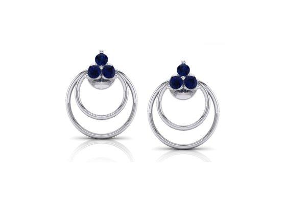 18K White Gold IF-FG Diamond Earring 0 ct-SDER1768