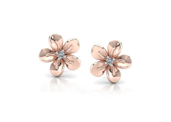 18K Rose Gold IF-FG Diamond Earring 0.022 ct-SDER1880