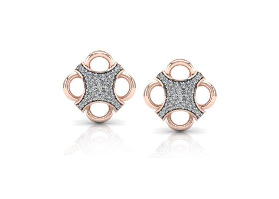 18K Rose Gold IF-FG Diamond Earring 0.26 ct-SDER1886