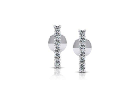 18K White Gold IF-FG Diamond Earring 0.132 ct-SDER1943