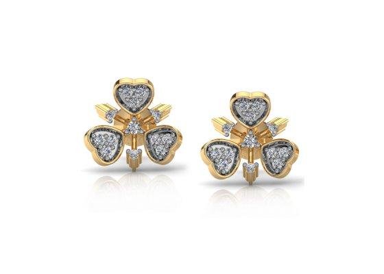 18K Yellow Gold IF-FG Diamond Earring 0.298 ct