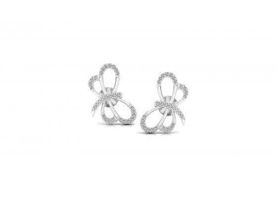 18K White Gold IF-HI Diamond Earring 0.26 ct-SDER3307