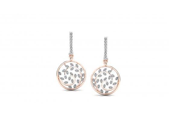 18K Rose Gold IF-HI Diamond Earring 0.552 ct-SDER3357