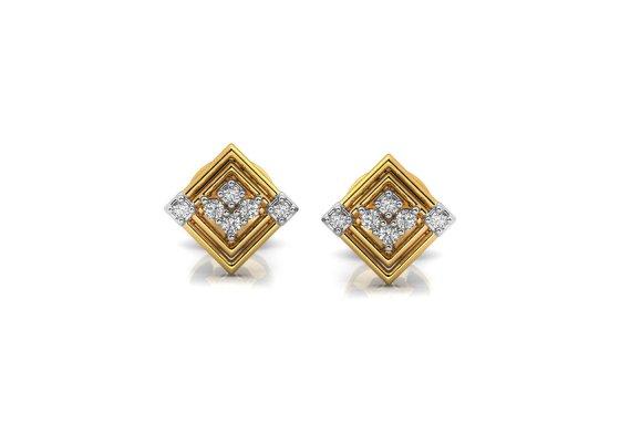 18K Yellow Gold IF-HI Diamond Earring 0.072 ct-SDER3494