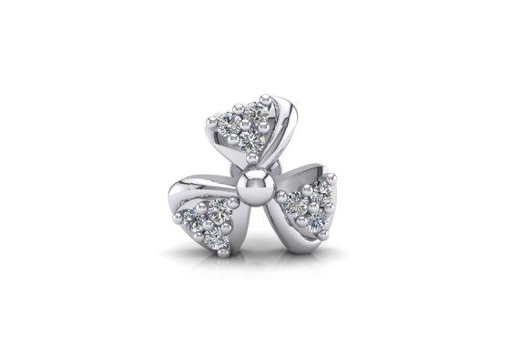 18K White Gold IF-FG Diamond Nosepin 0.045 ct-SDNP1122