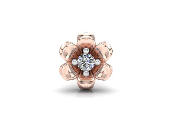 18K Rose Gold IF-FG Diamond Nosepin 0.025 ct-SDNP1175