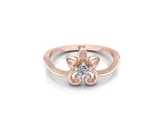 18K Rose Gold IF-FG Diamond Ring 0.04 ct-SDR1633