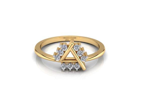 18K Yellow Gold IF-FG Diamond Ring 0.072 ct-SDR1917