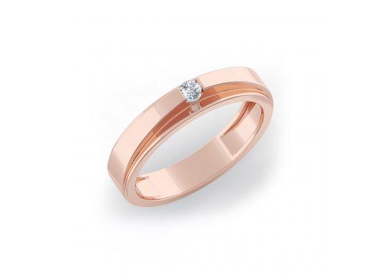 18K Rose Gold IF-HI Diamond Ring 0.06 ct-SDR2095