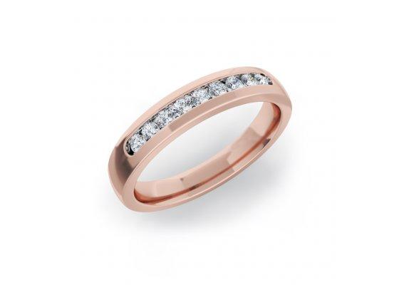 18K Rose Gold IF-HI Diamond Ring 0.225 ct-SDR2096