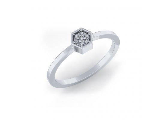18K White Gold IF-HI Diamond Ring 0.023 ct-SDR2105