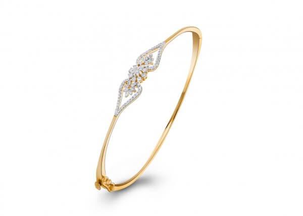 18K Yellow Gold FG Colour IF Clarity Floral Chaplet Diamond Bracelet 1.240Ct SG06837BN