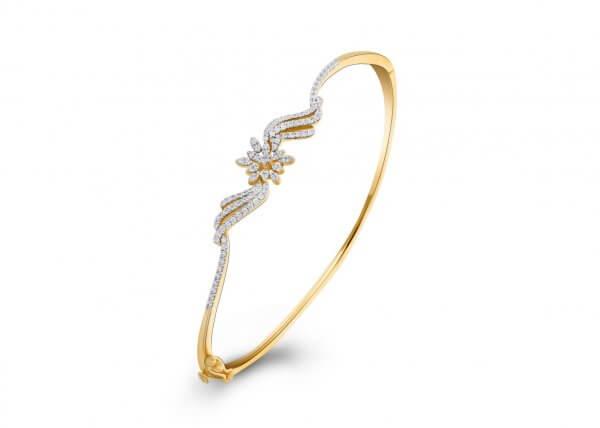 18K Yellow Gold FG Colour IF Clarity Coronal Grace Diamond Bracelet 0.618Ct SG04724BN