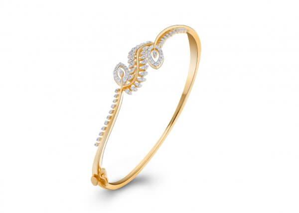 18K Yellow Gold FG Colour IF Clarity Twiglet Grace Diamond Bracelet 0.532Ct SG04726BN