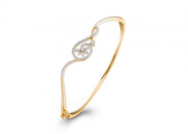 18K Yellow Gold FG Colour IF Clarity Cupid's Bow Diamond Bracelet 0.760Ct SG00956BN